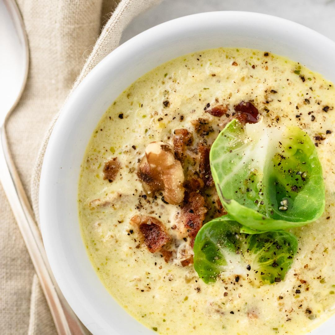 Gluten Free, Keto Brussels Sprout Soup