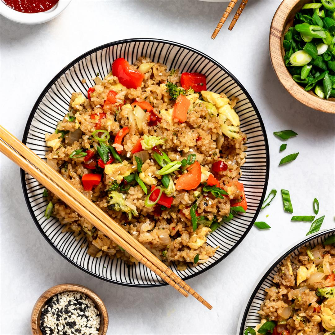 One Pan Veggie Fried Rice