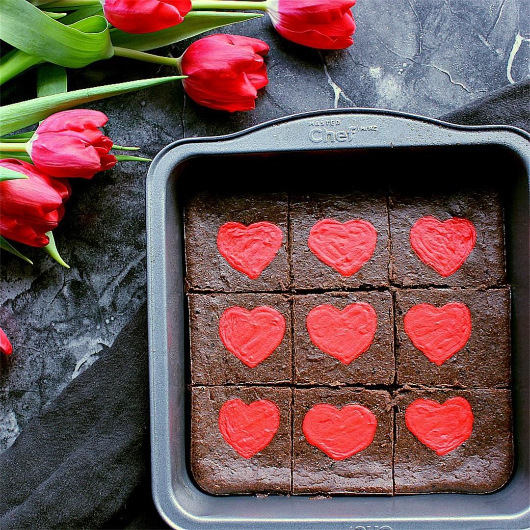 Low Carb Valentine's Day Brownies