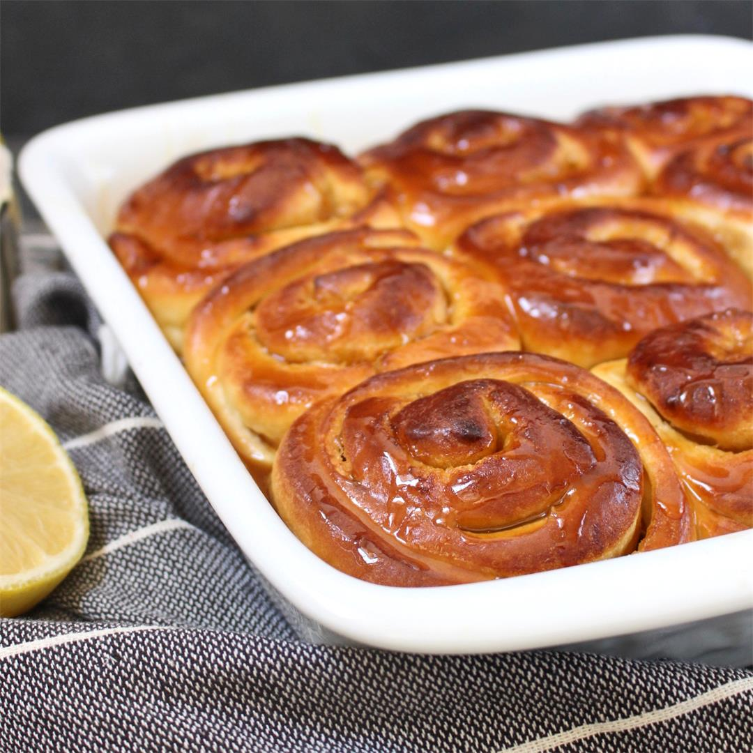Easy Lemon Sweet Rolls with Lemon Drizzle