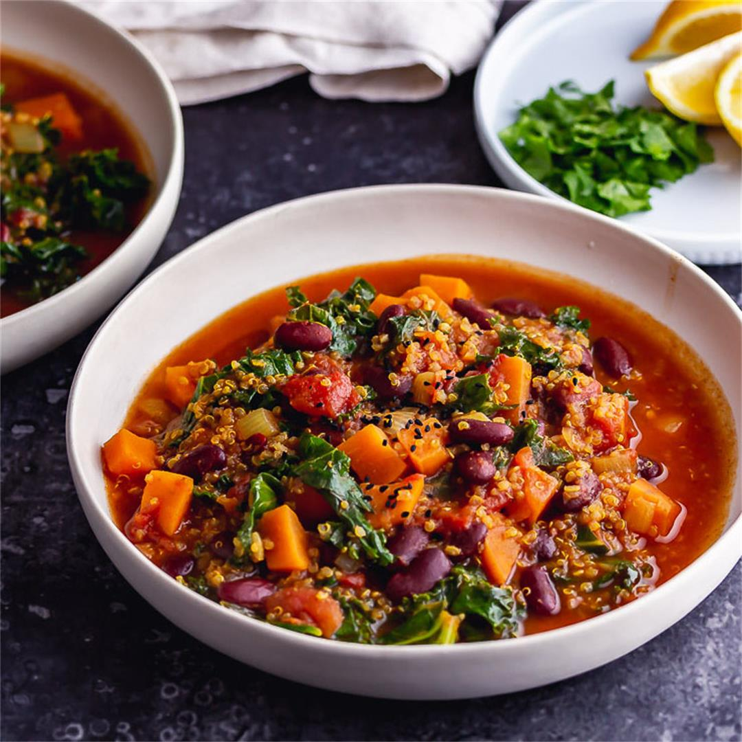Vegan Stew with Beans & Sweet Potato