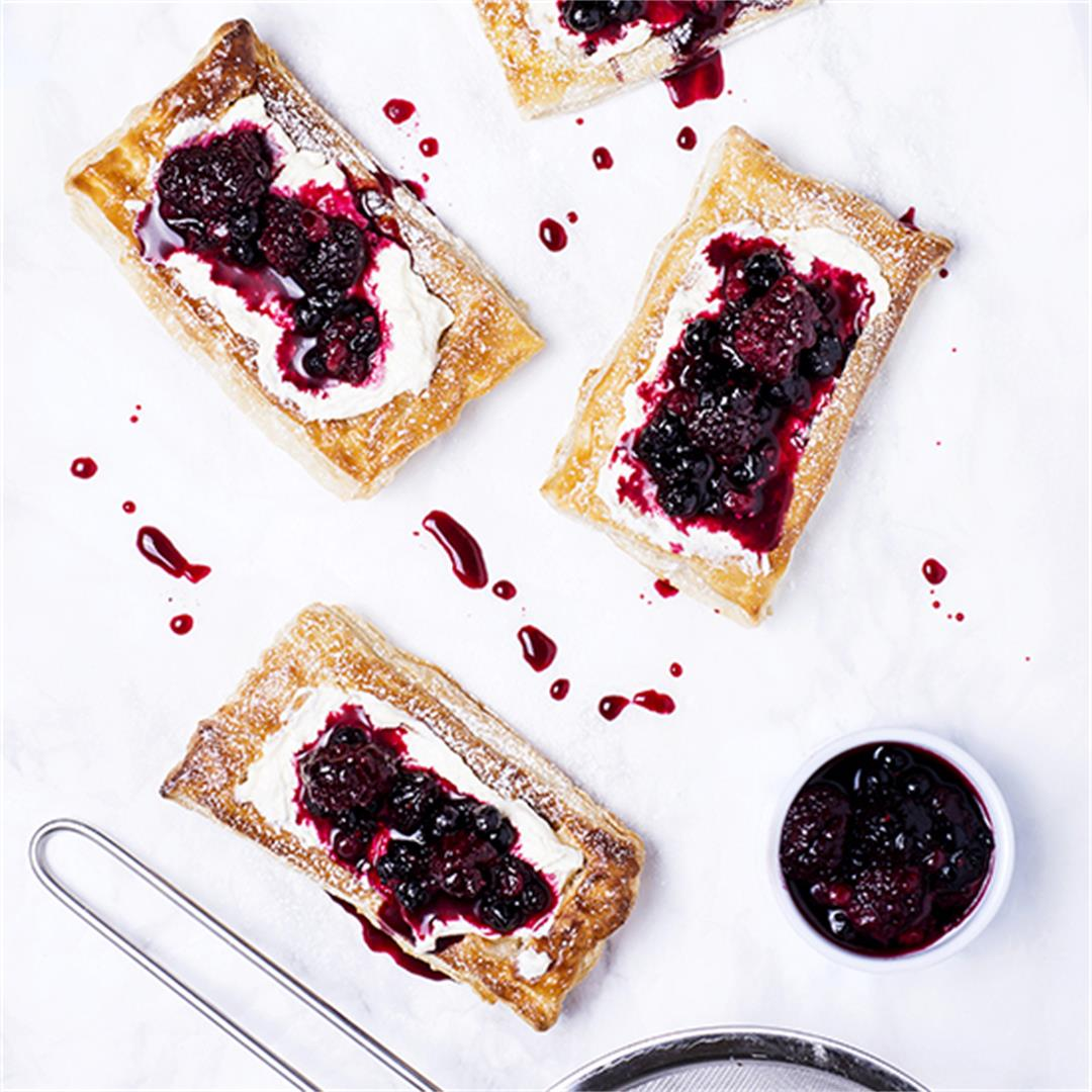 Mixed Berry Puff Pastry Tart