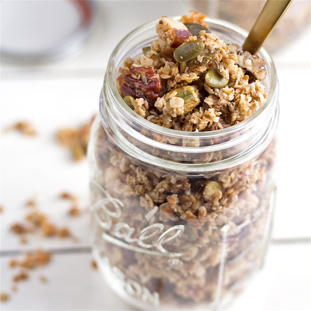 Coconut Almond Butter Granola