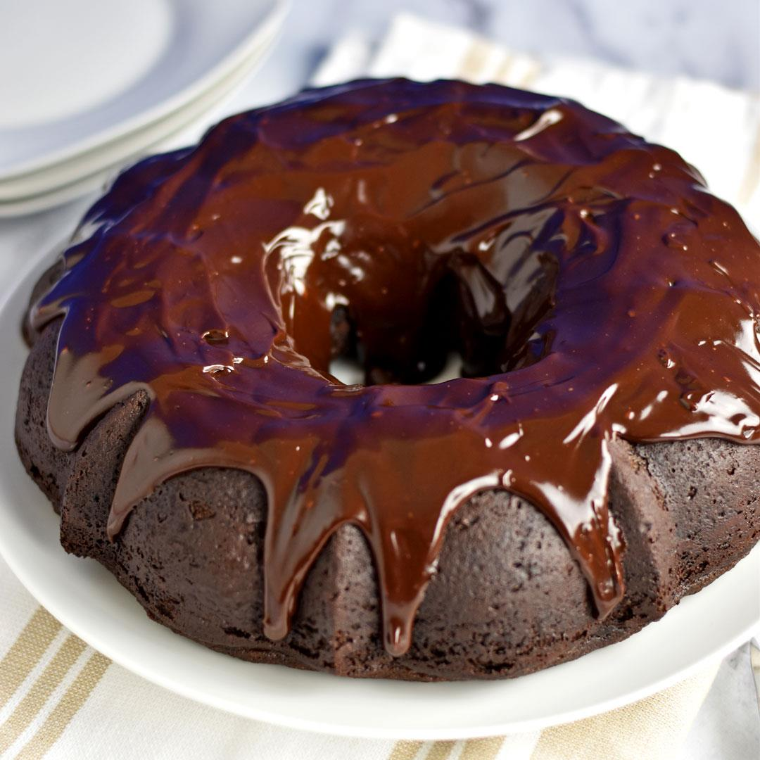 Gluten Free Chocolate Sour Cream Bundt Cake