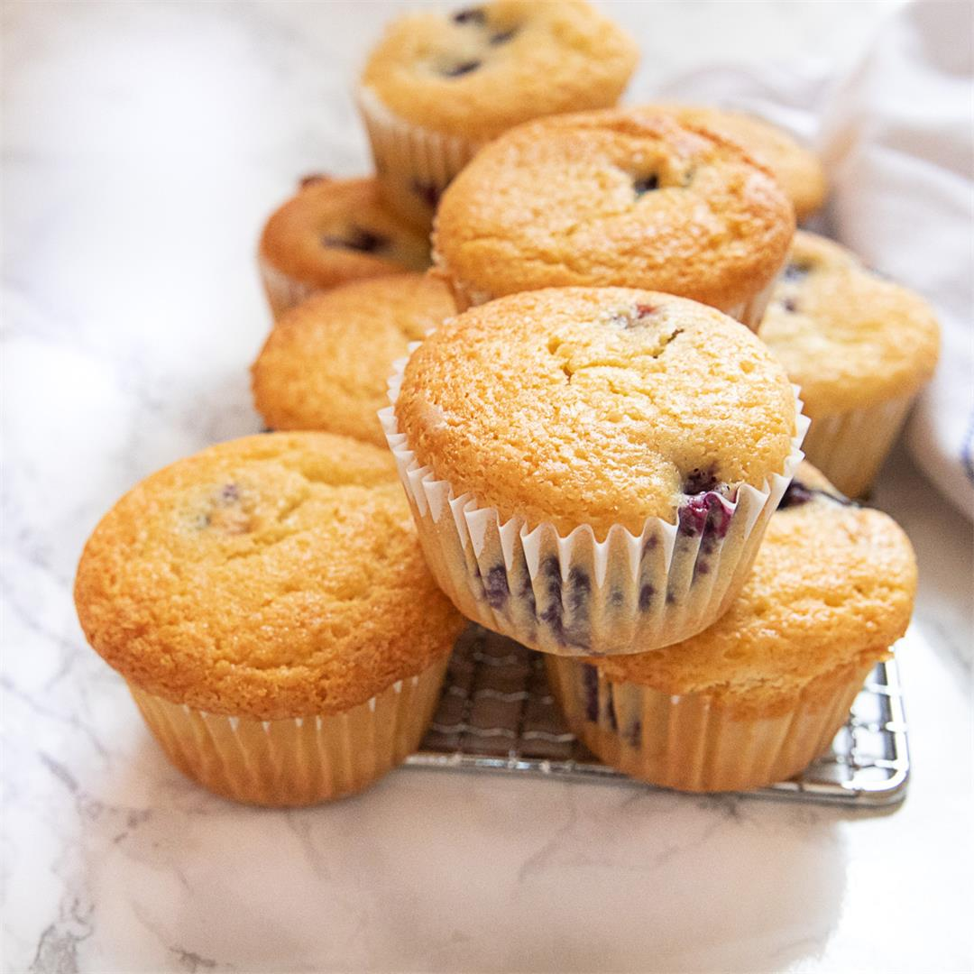 Cottage Cheese and Yogurt Blueberry Muffins and Coffee Cake