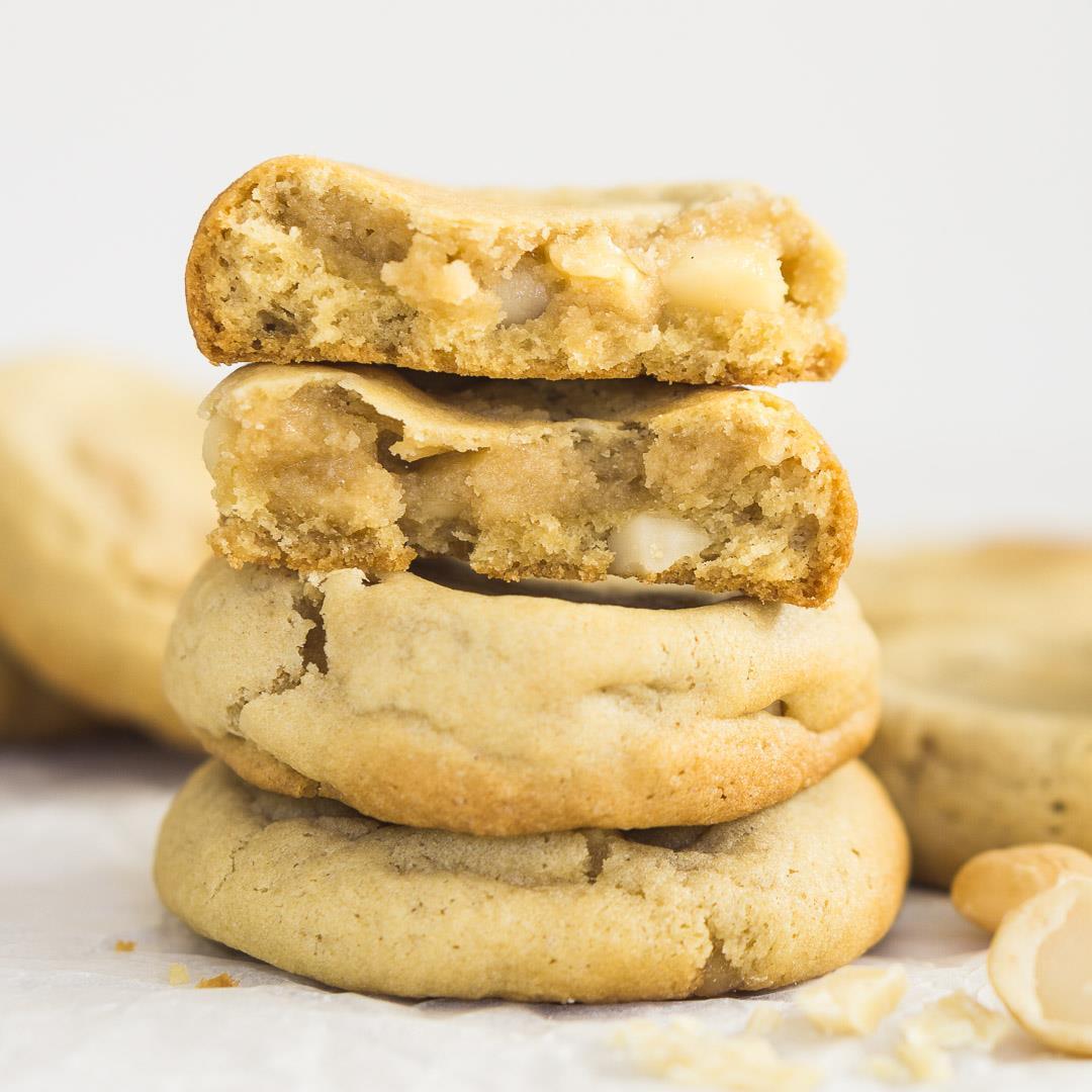 Dairy-Free White Chocolate Macadamia Cookies