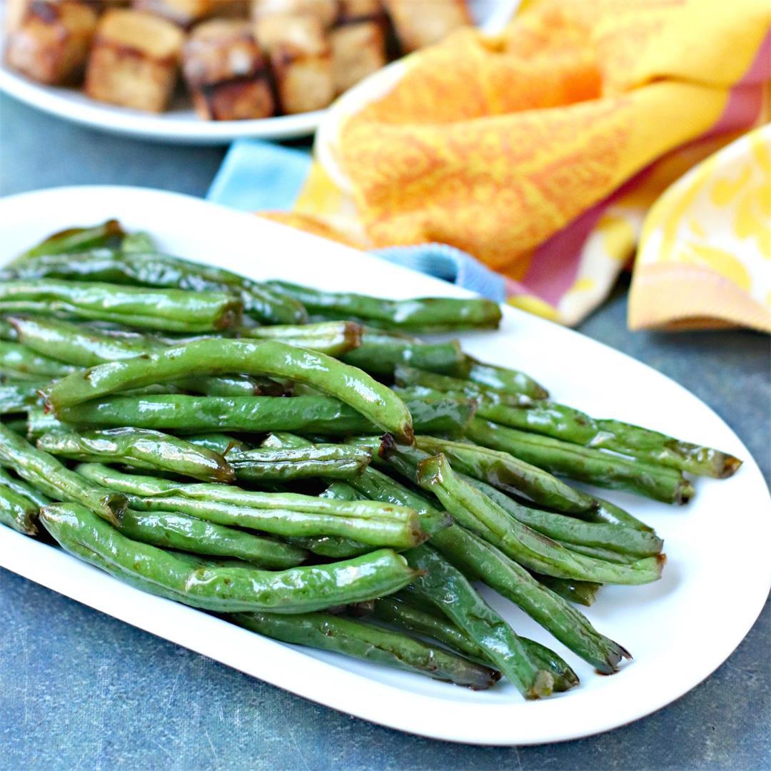 Asian-Inspired Air Fryer Green Beans