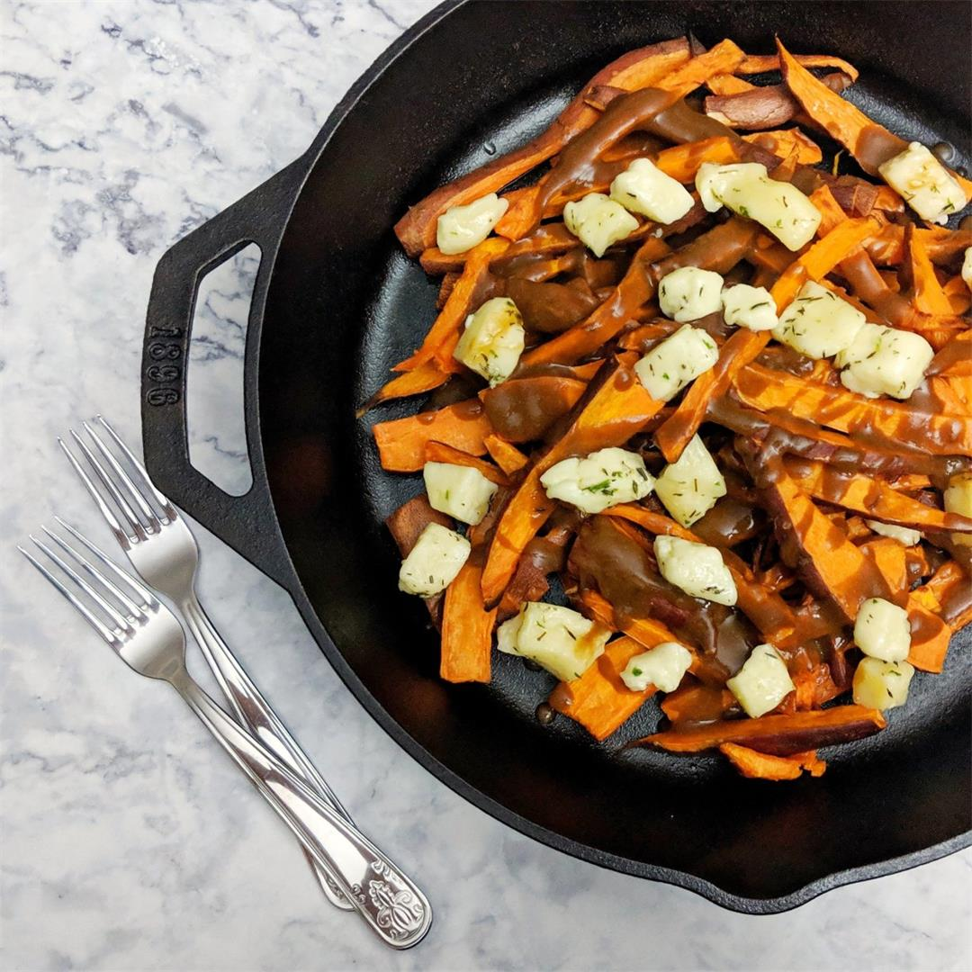 Sweet Potato Poutine with Herbed Cheese Curds