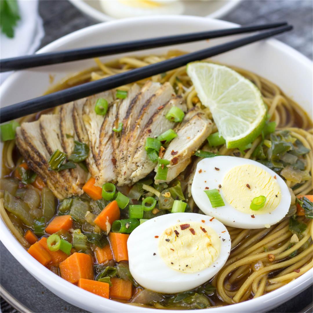 Spicy Ramen Noodle Soup