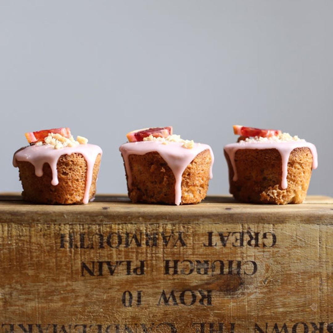 Blood Orange Buckwheat Hazelnut Friands