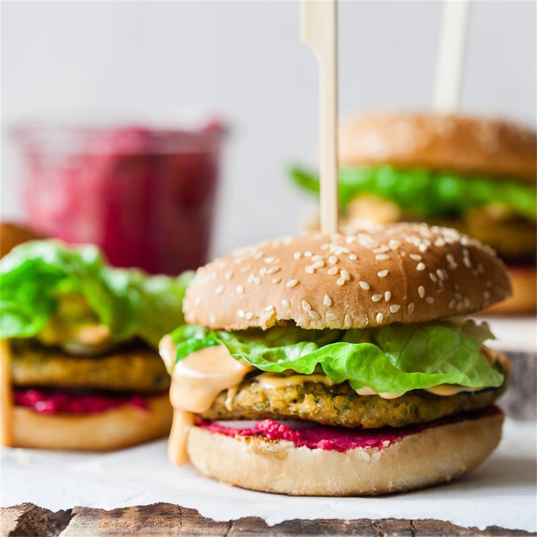 Vegan Hummus Chickpea Burger