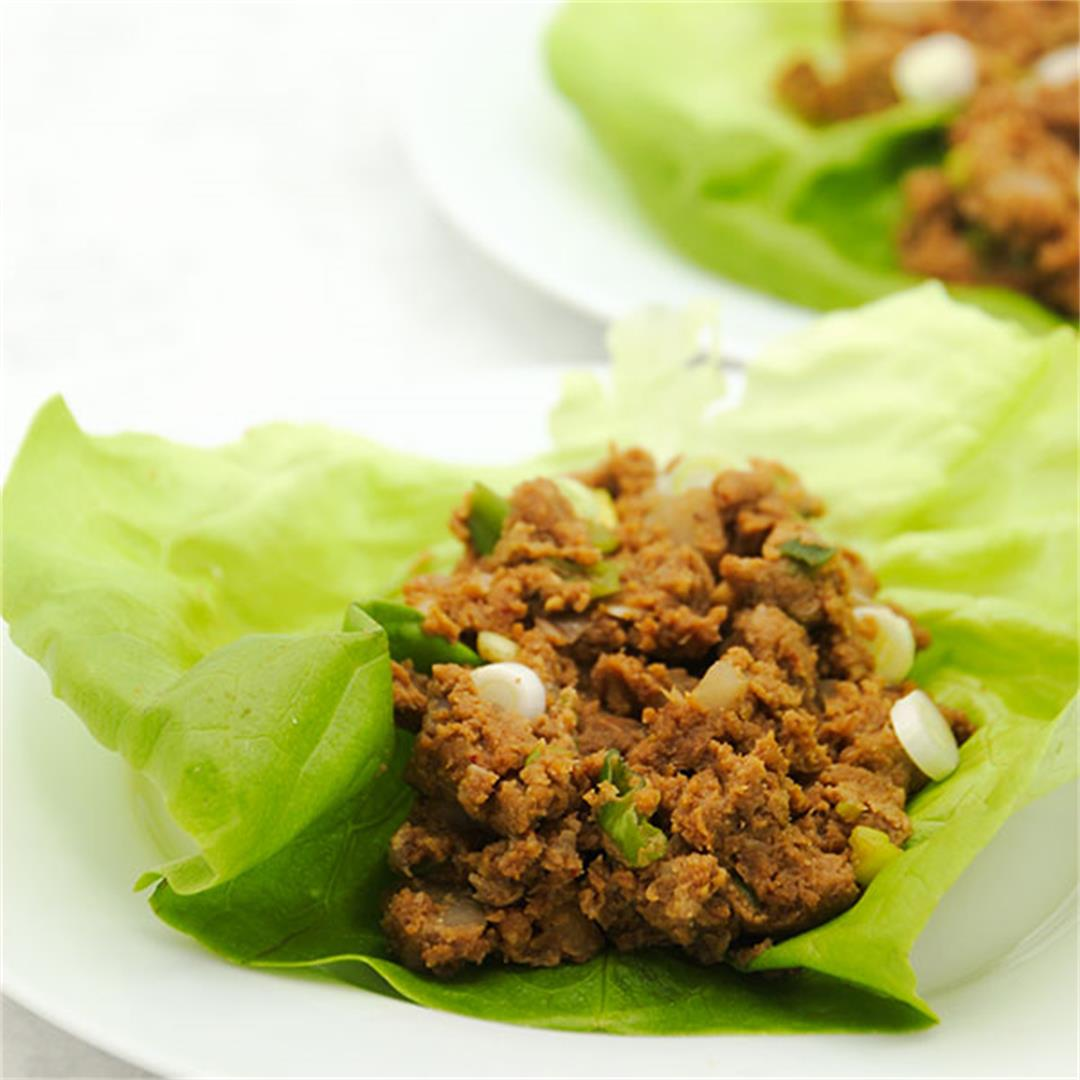Asian lettuce wraps - plant-based made with baked cauliflower