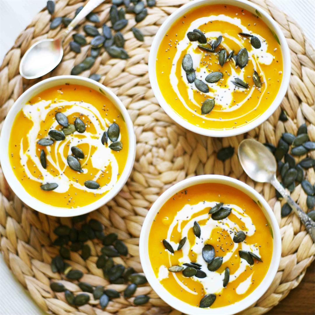 Simple Hokkaido Pumpkin Soup (Vegan and GF)