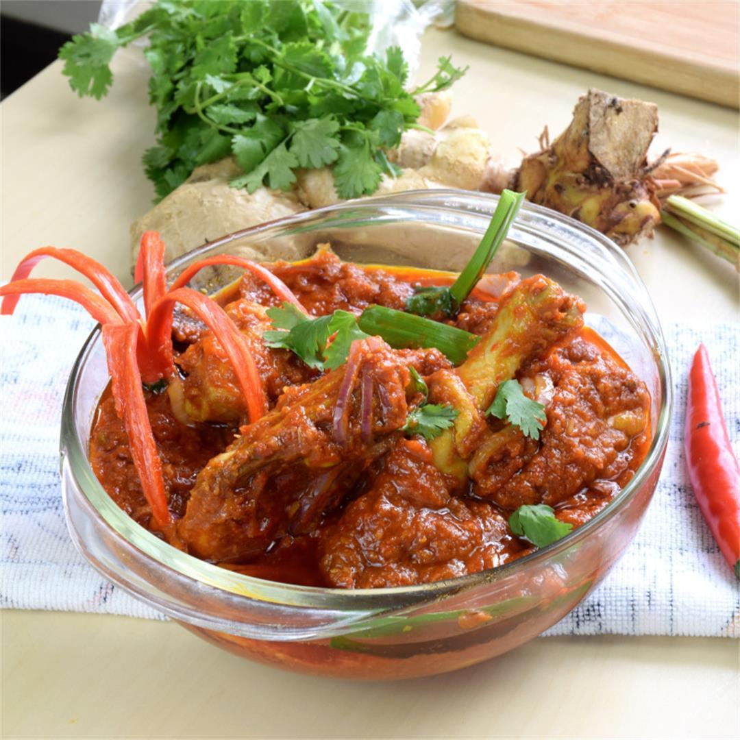 Ayam Masak Merah (chicken with tomato sauce)