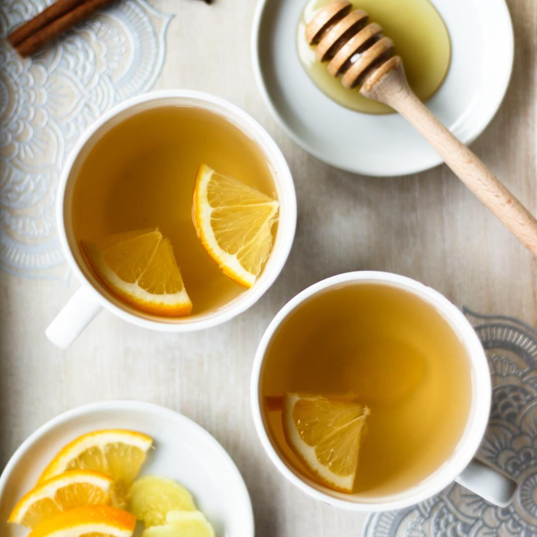 Lemon and Ginger Tea - refreshing and boosts immunity!