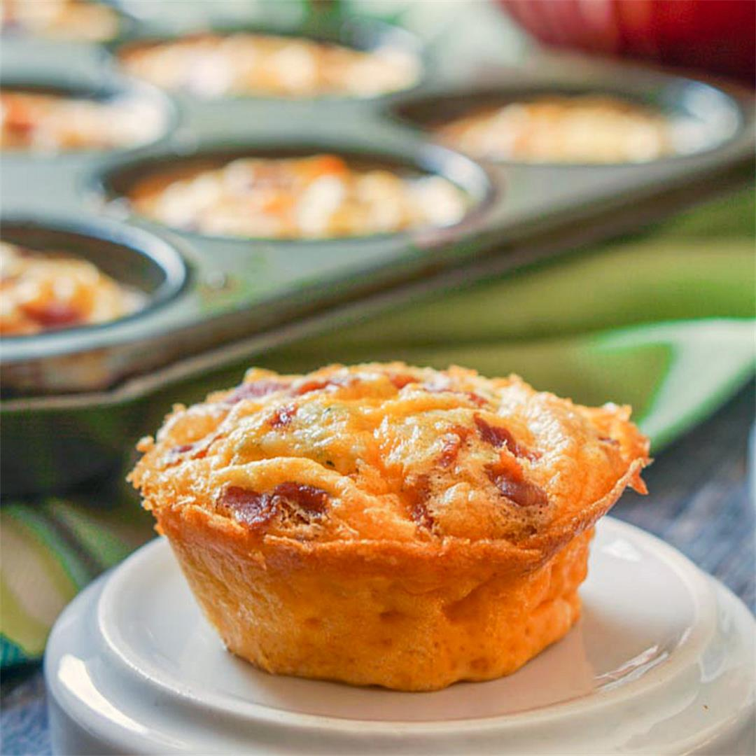 Buffalo Bacon Egg Muffins (Low Carb & Gluten Free)
