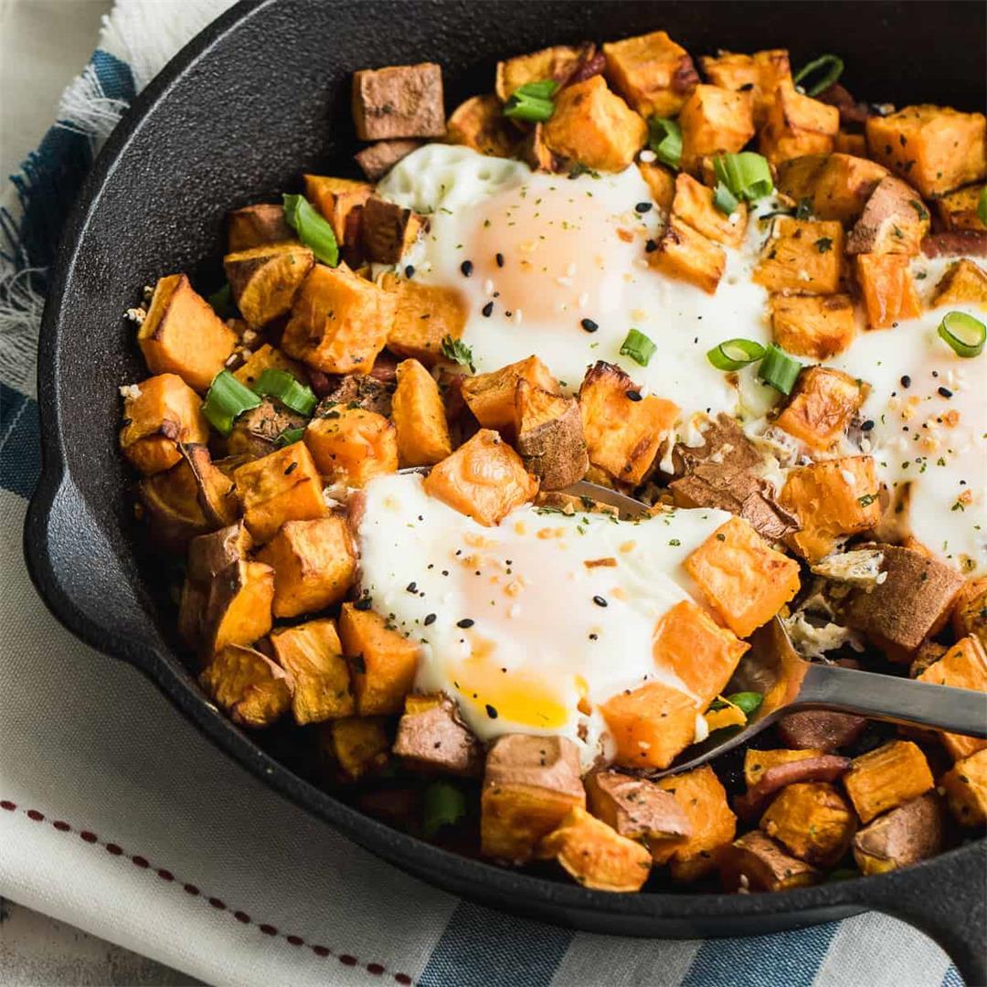 Sweet Potato Breakfast Skillet | Whole 30, Paleo, Gluten Free