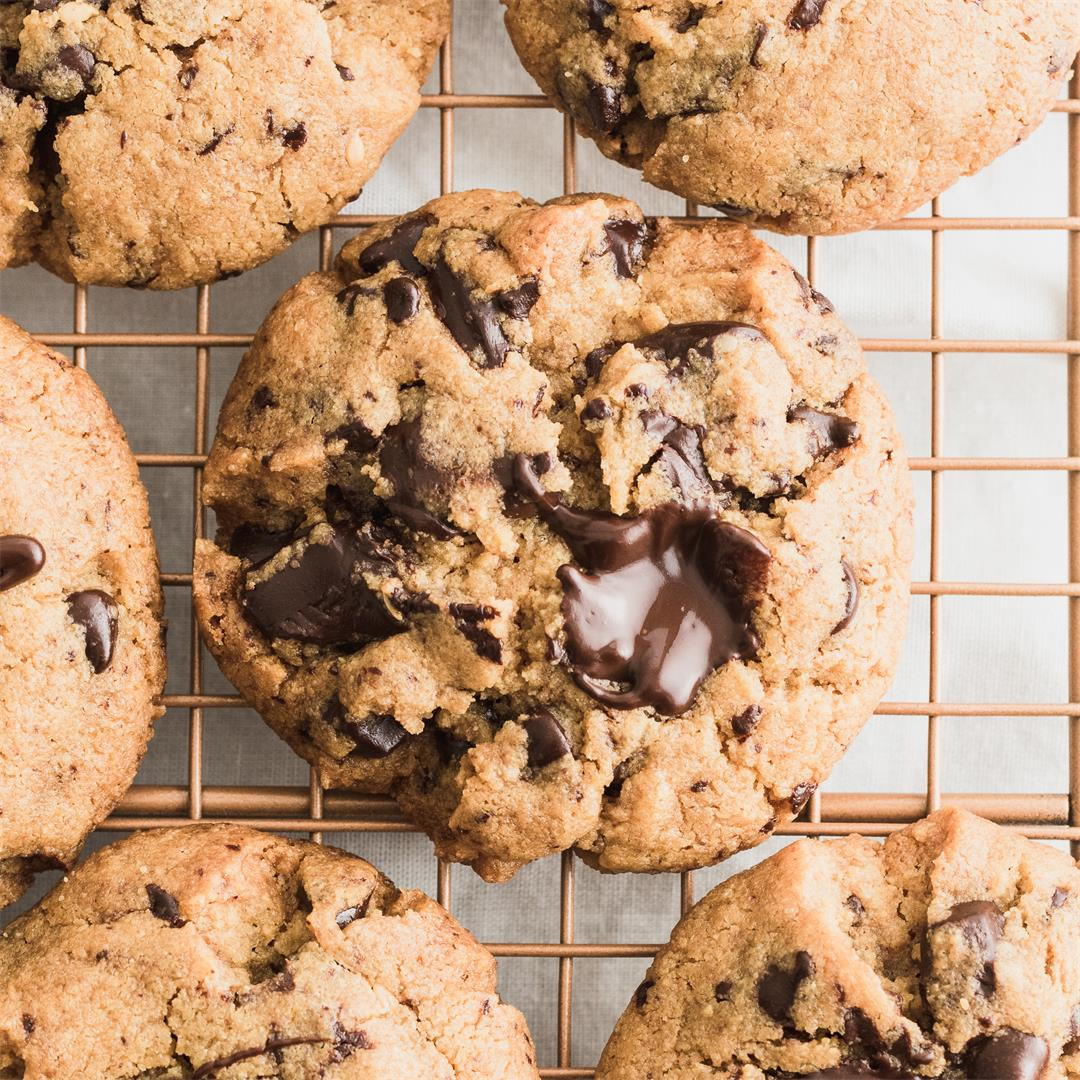 Life Changing Gluten Free Peanut Butter Chocolate Chunk Cookies
