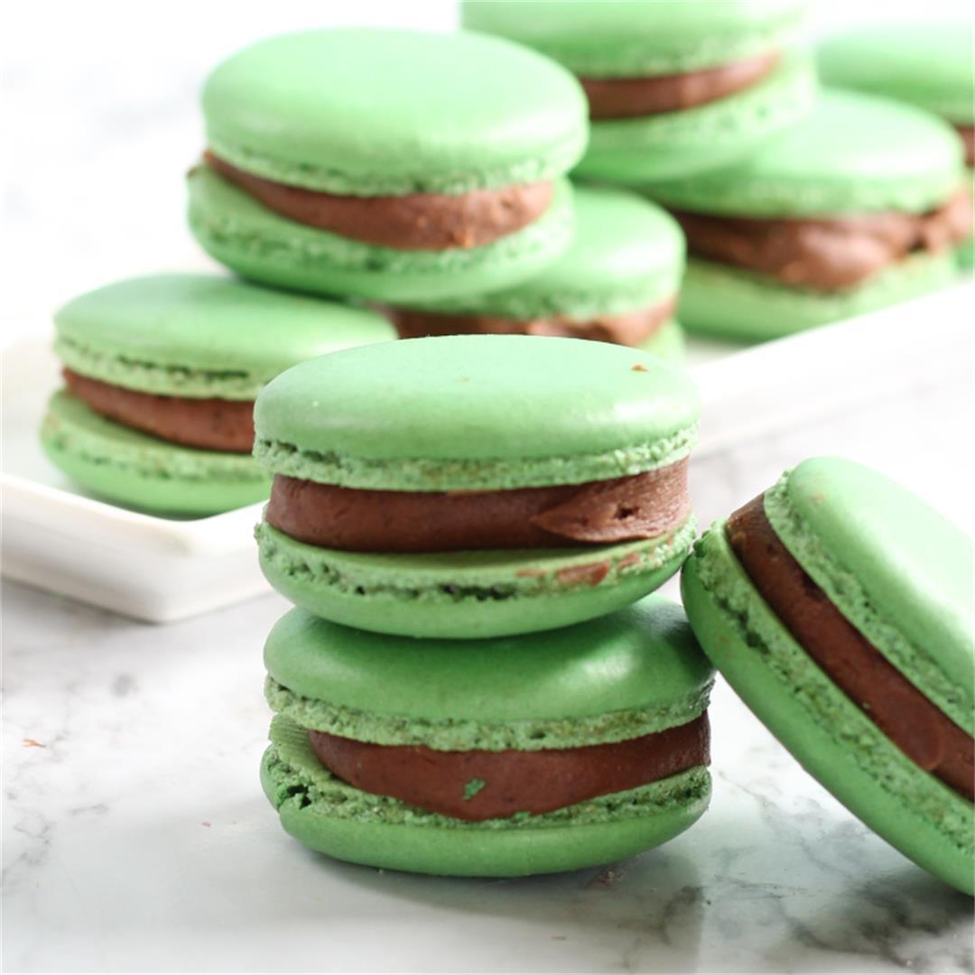 Keto Macaron-Mint Chocolate