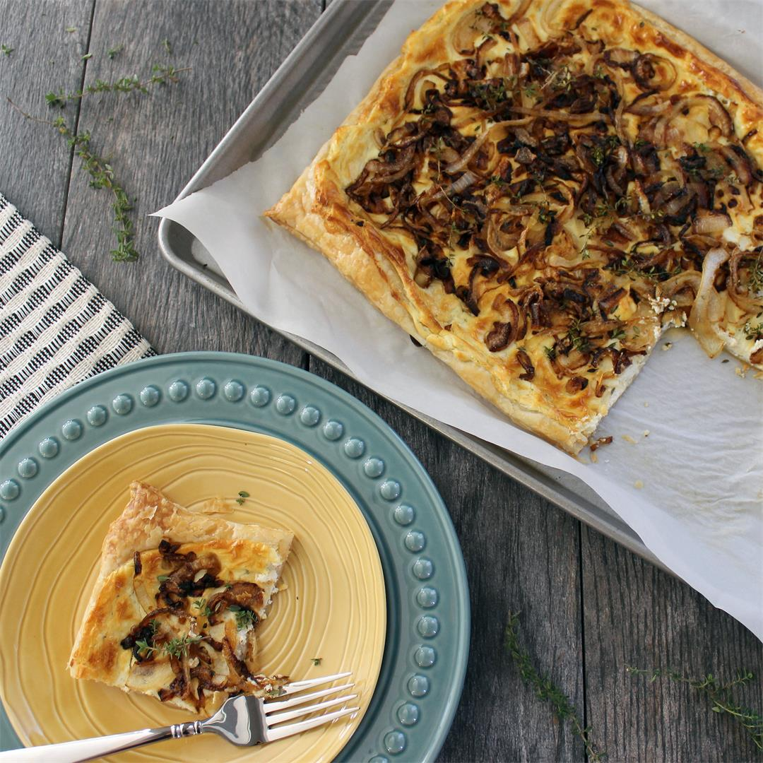 Caramelized Onion and Goat Cheese Tart