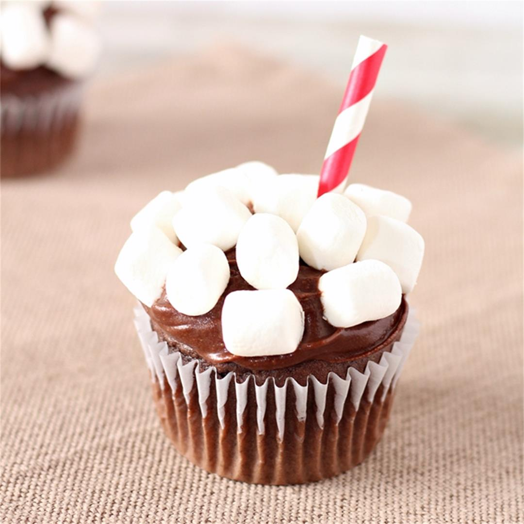 Easy Cup of Cocoa Cupcakes