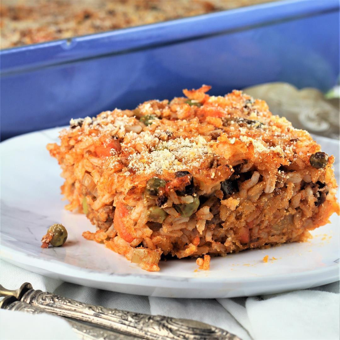 Sicilian Rice Casserole