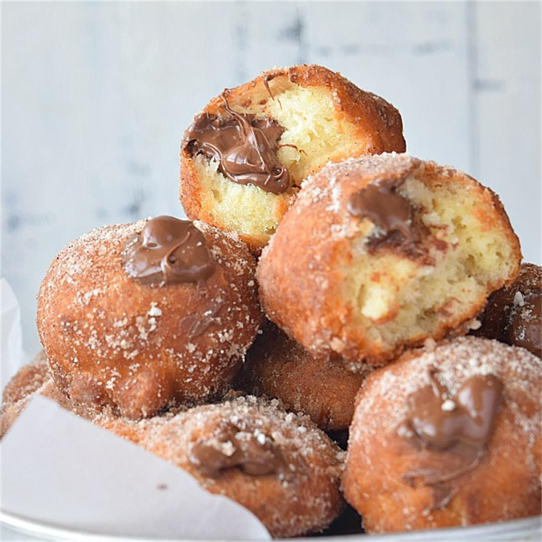 Nutella Cinnamon Sugar Donuts
