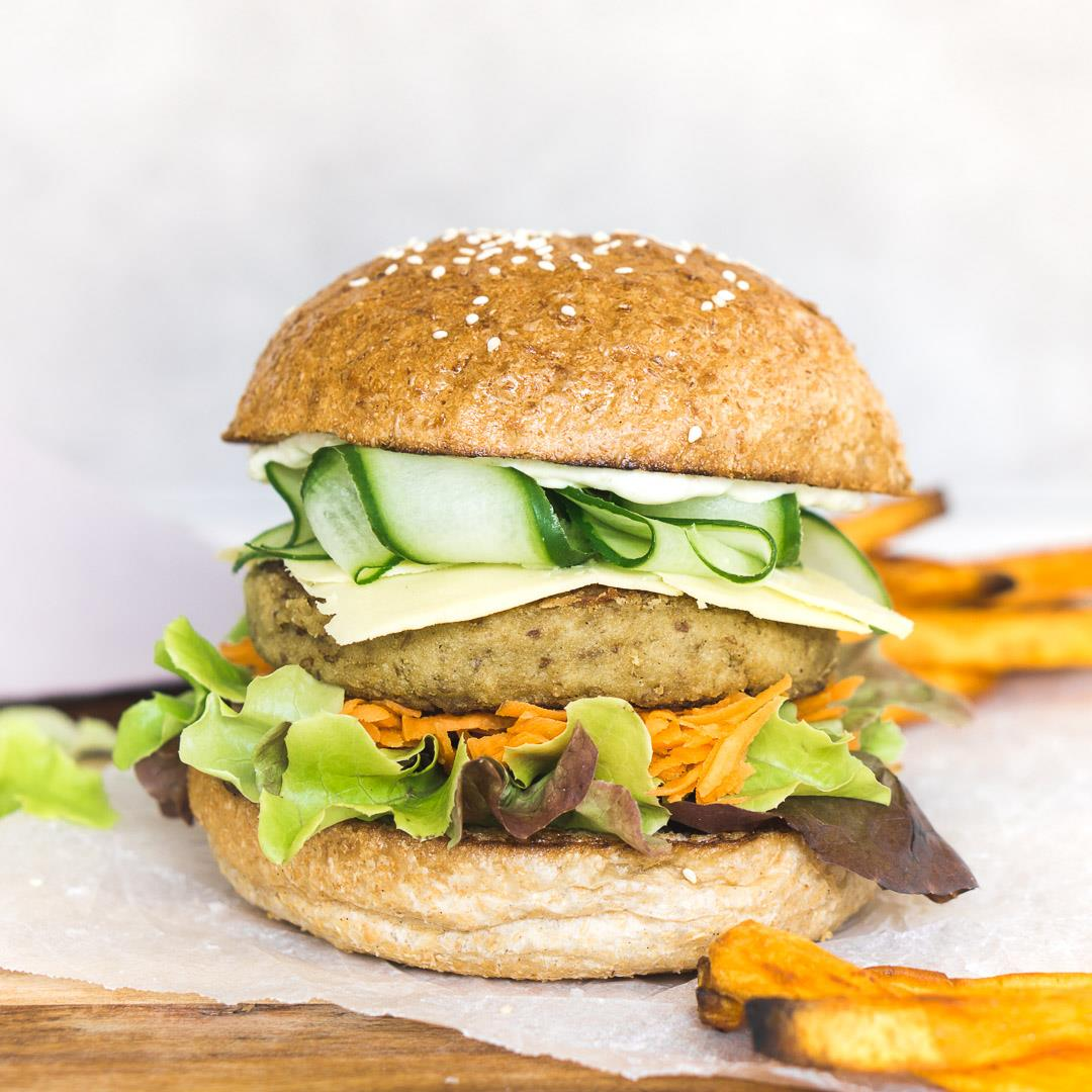 Spiced Chickpea and Cauliflower Burgers