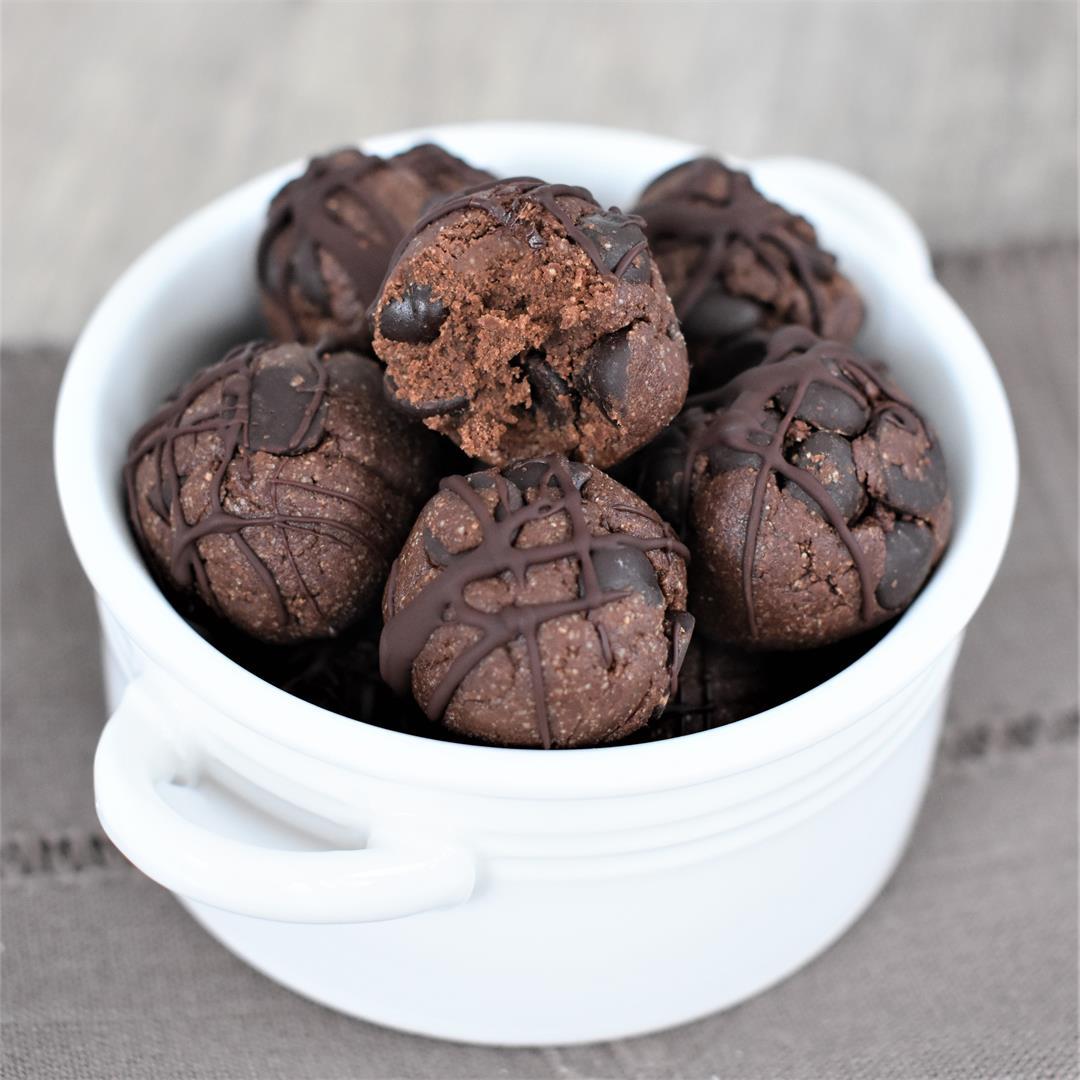 Double Chocolate Chip Cookie Dough Bites [Vegan, GF]