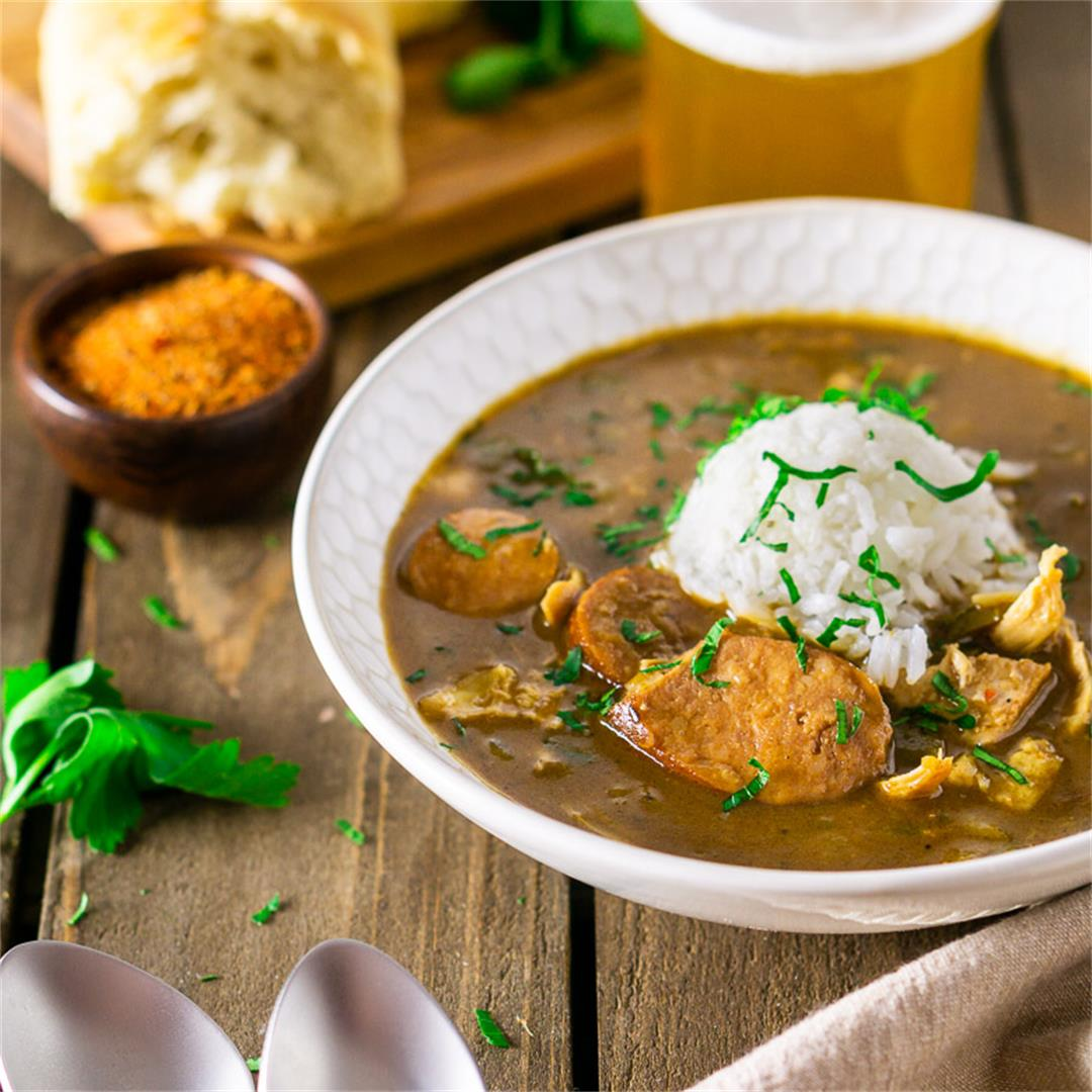 Andouille Sausage-Chicken Gumbo