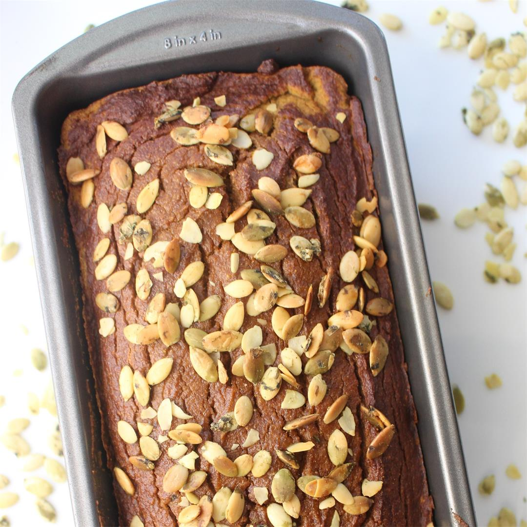 Healthy Paleo Pumpkin Bread with Tigernut and Cassava Flour