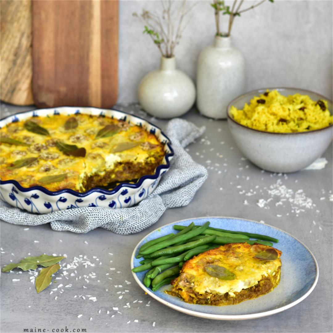 Bobotie recipe – South African curried meatloaf casserole