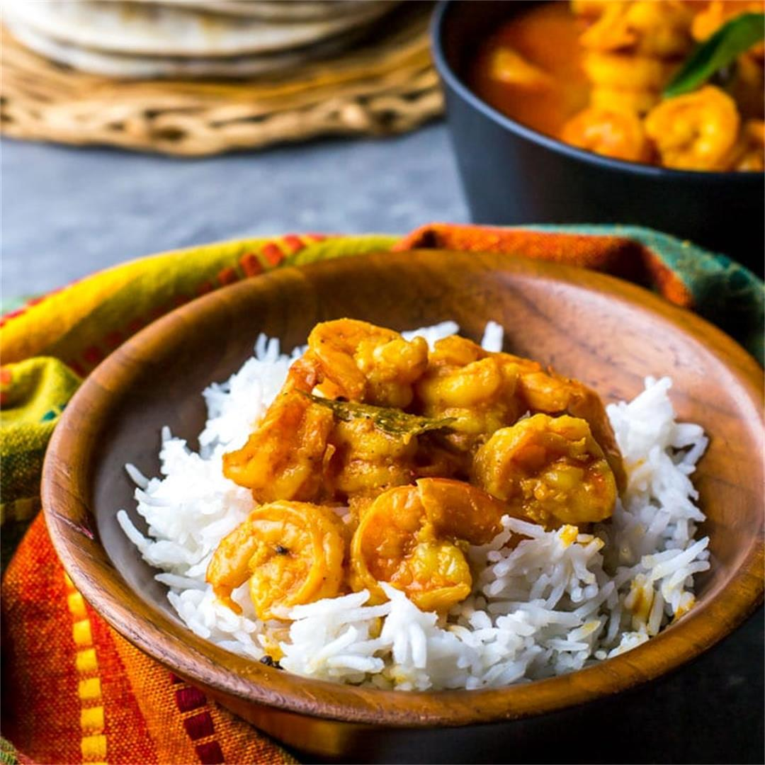 Prawn Gassi (Shrimp / Prawn Curry)