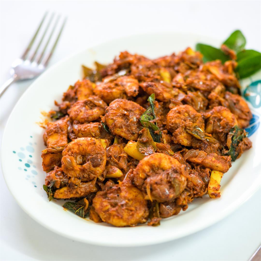 Prawns Roast/ Chemmeen Roast/ Kerala Prawns Roast