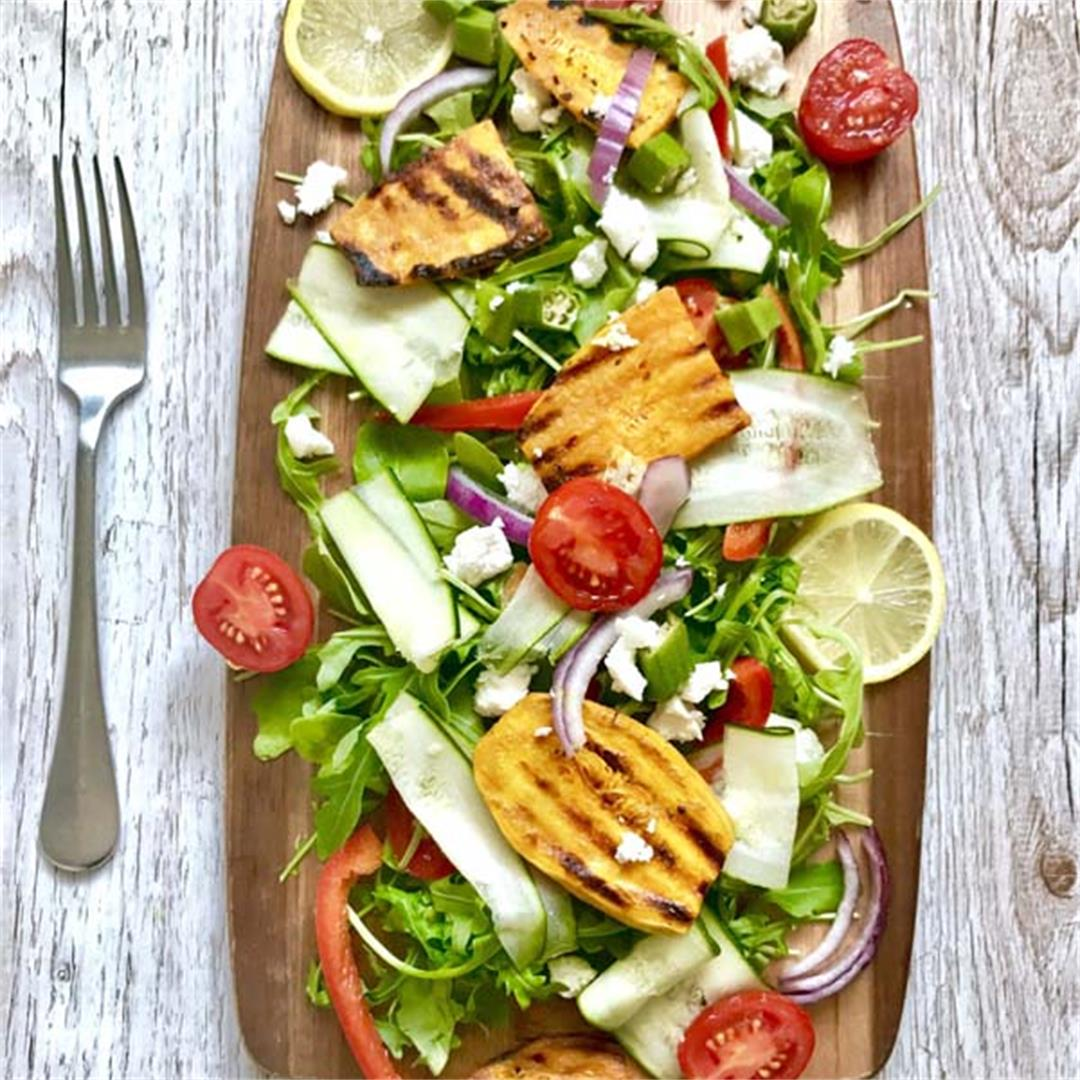 Sweet Potato & Okra Salad