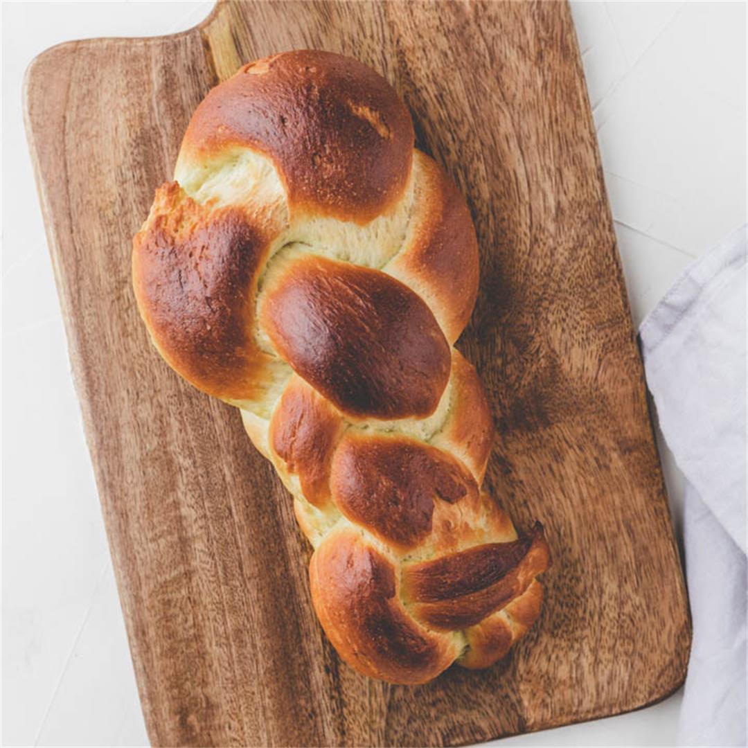 Vegan Zopf Bread – Swiss Braided Bread