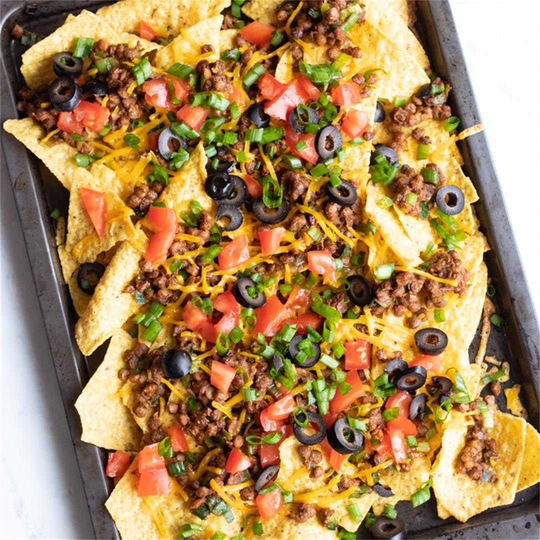 Loaded Low FODMAP Lentil Nachos