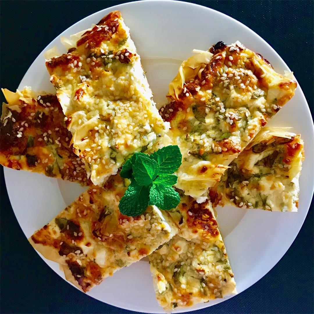 Cheese and Herb Filo Pie