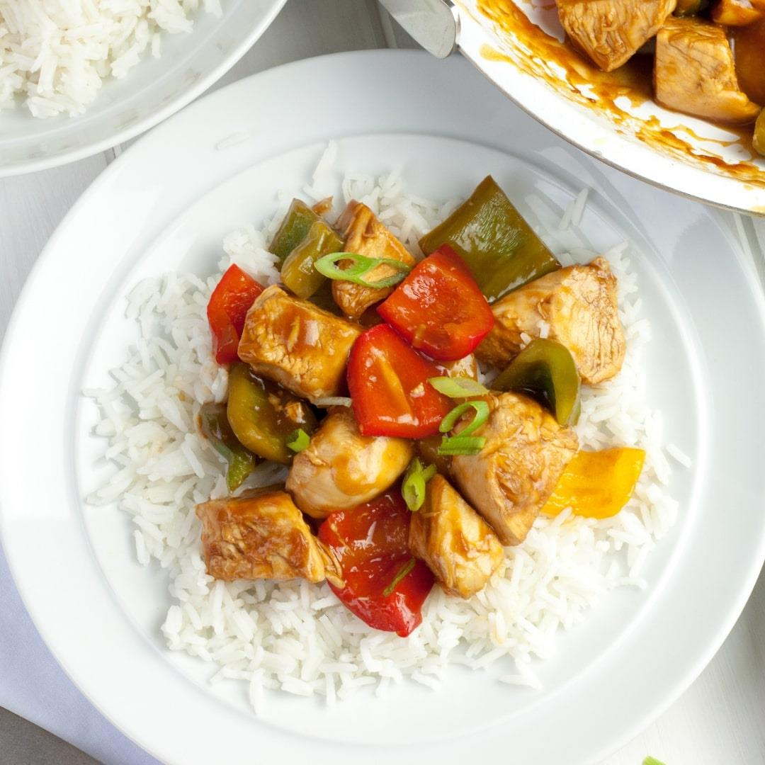 Sweet and sour Leftover Chicken