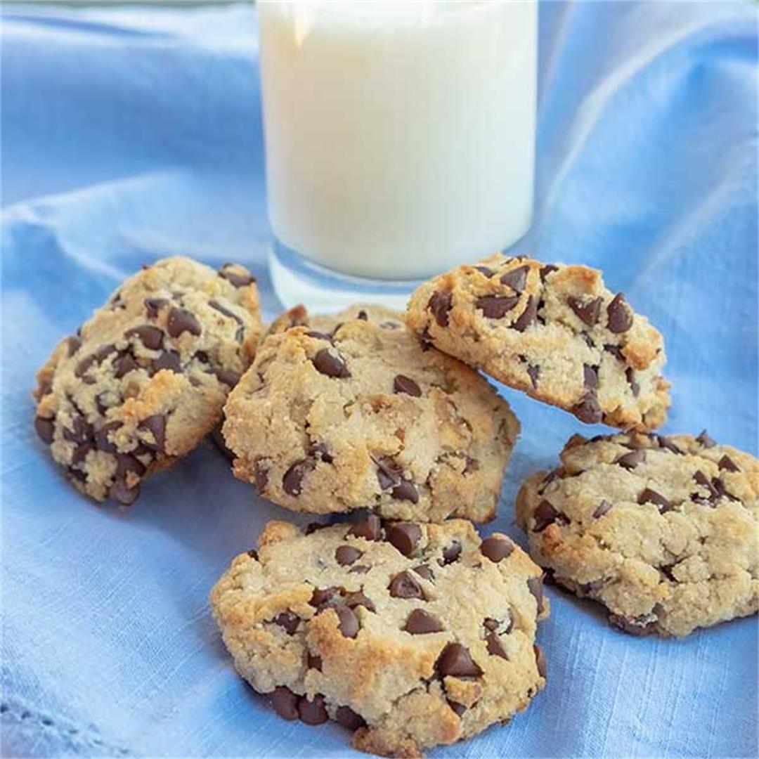 Chocolate Chip Walnut Cookie {Gluten-Free, Grain-Free, Low-Carb
