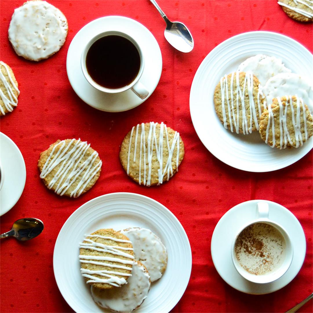 Iced Oatmeal Cookies - A great texture with a hit of warmth