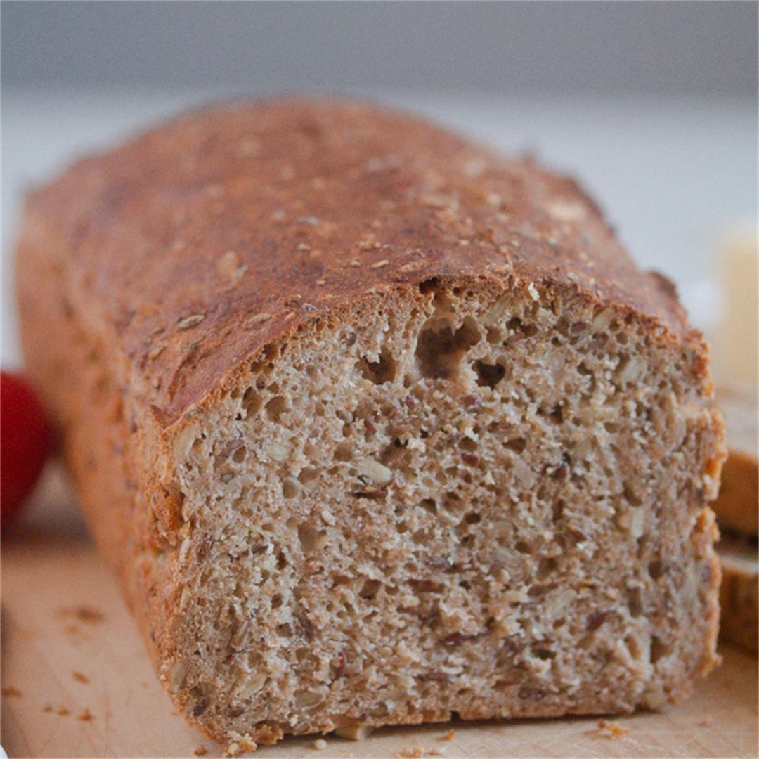 Homemade Whole Wheat Bread – No-Rise, No-Knead Bread