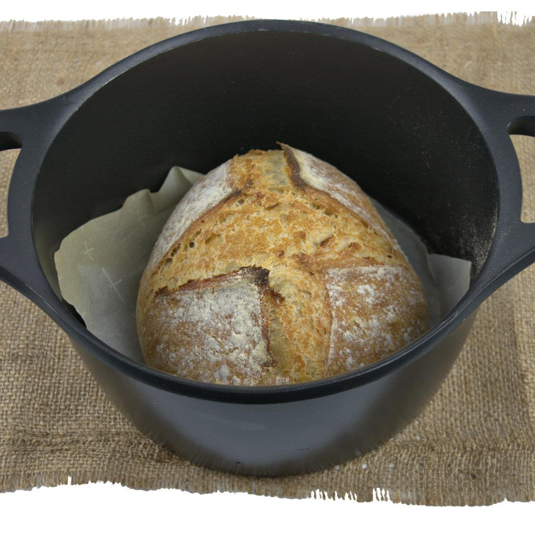 Artisan No-Knead Country Bread