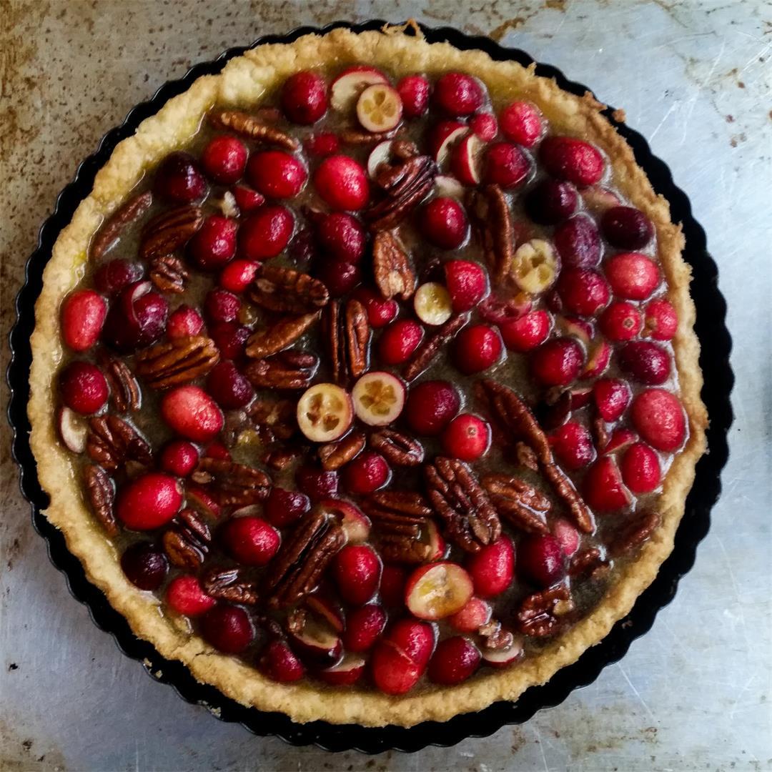 Pecan & Cranberry Tart