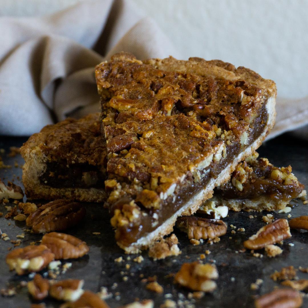 Easy Pecan Pie Bars with Pecan Sweet Tart Crust
