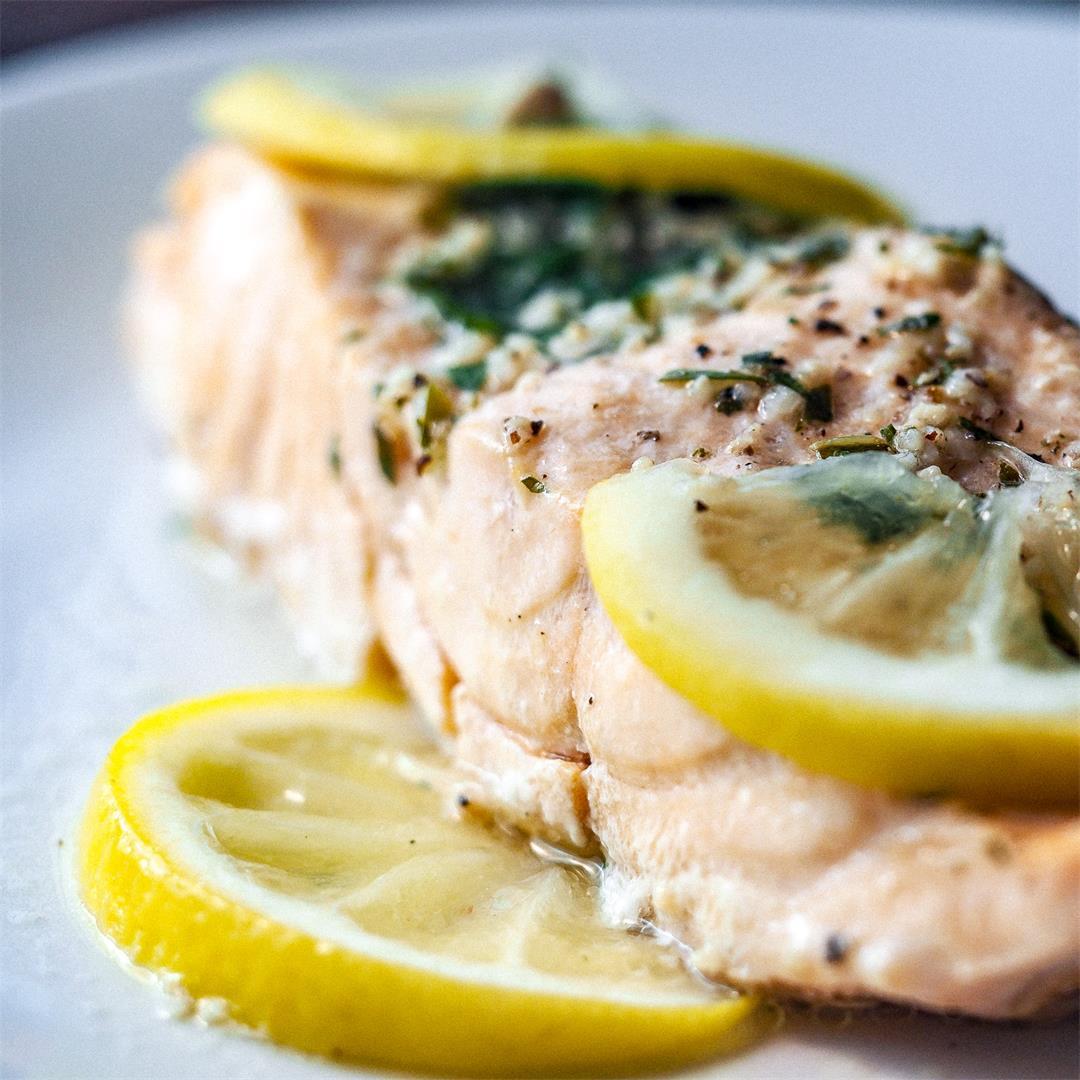 Instant Pot Lemon Herbed Salmon