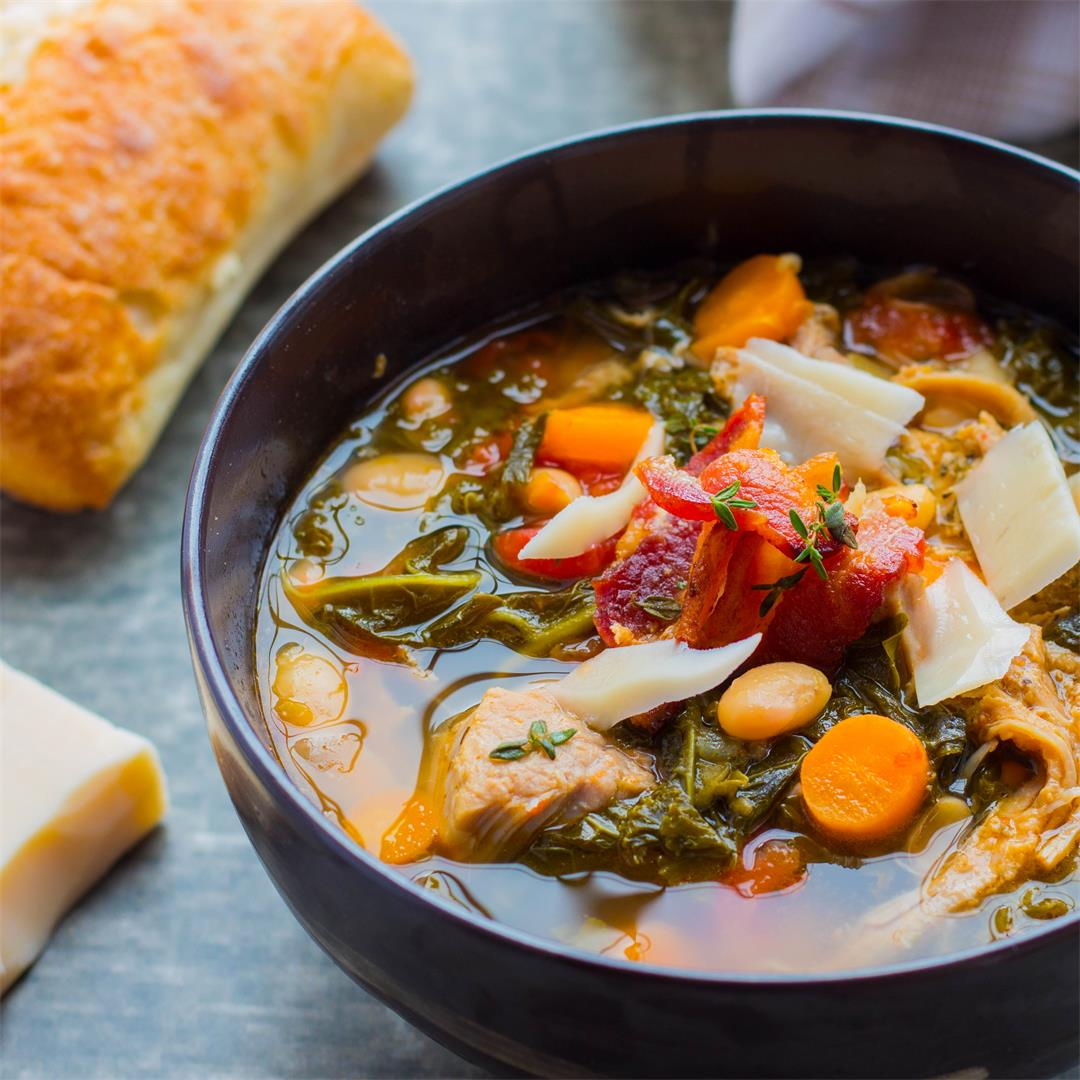Tuscan Pork & White Bean Stew