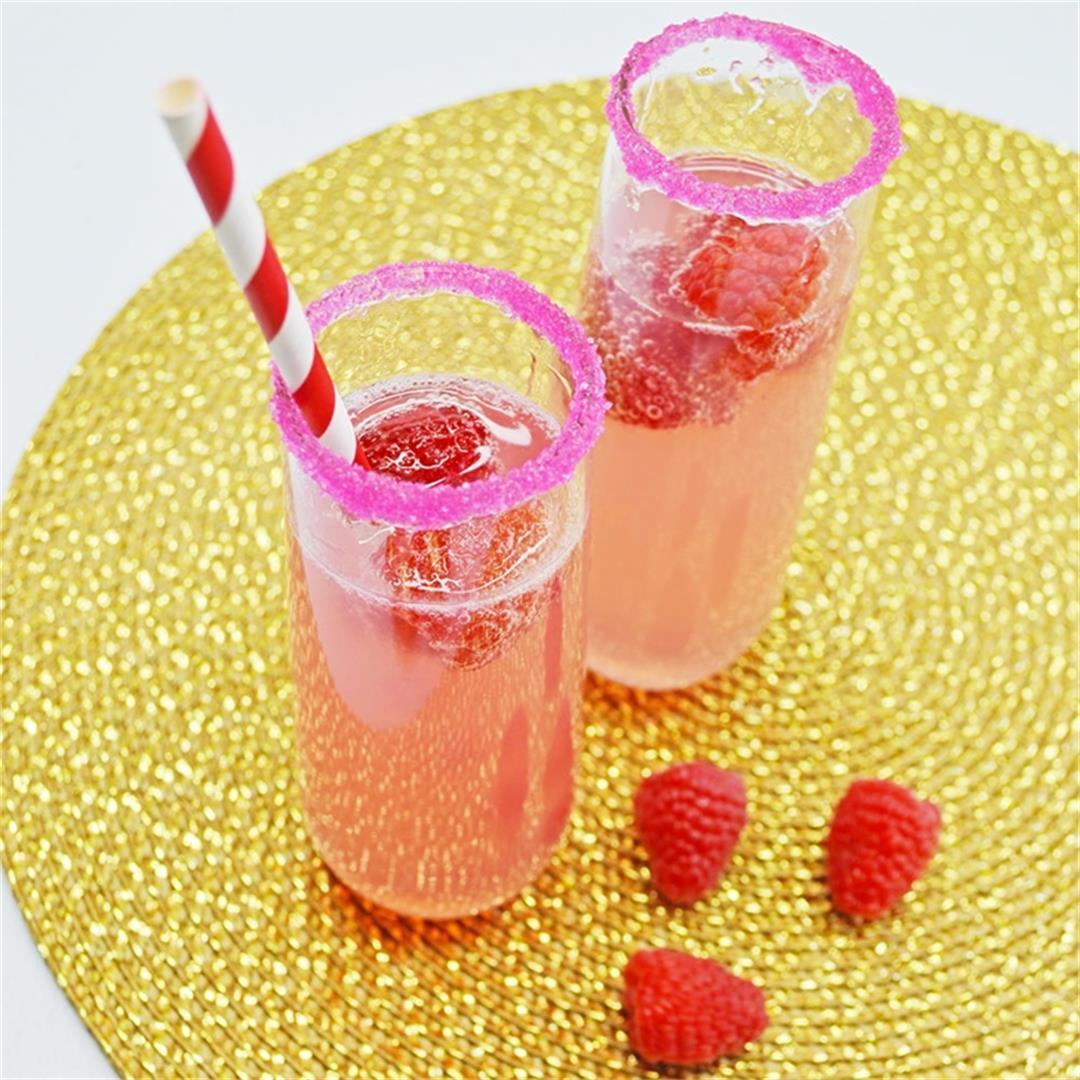 Raspberry Lemonade Mimosas