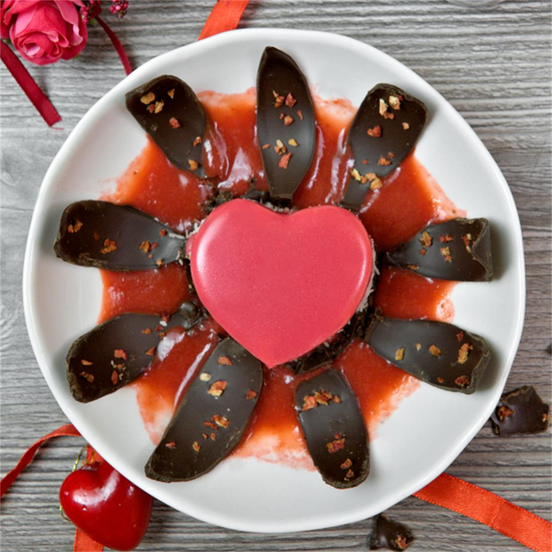 Mirror Glaze Cake – Valentine's Desserts