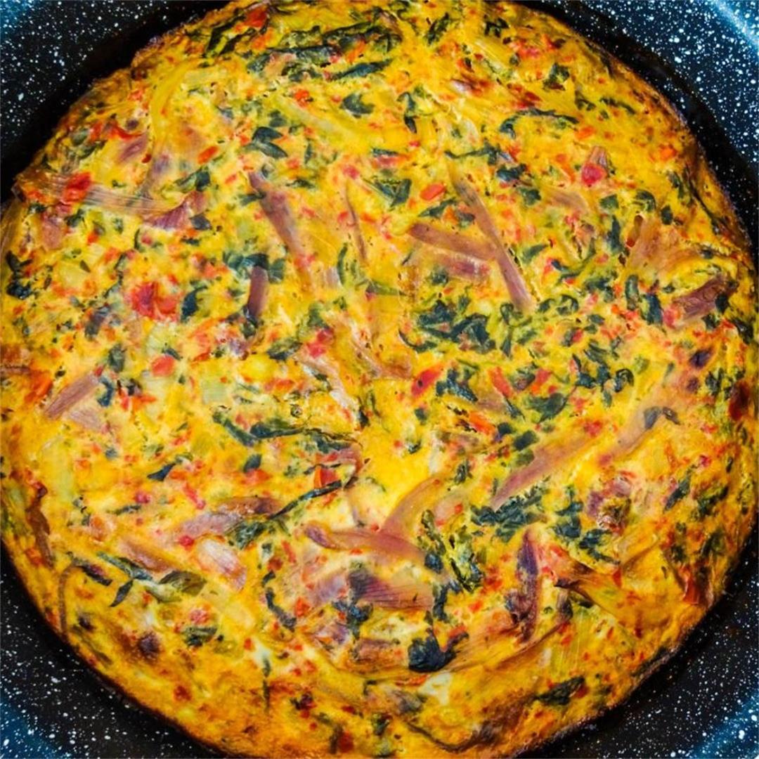Tasty Vegetarian Tart with Oatmeal Crust